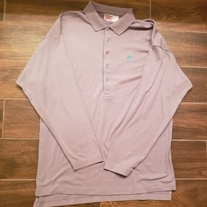 RARE VTG Grey Tag Nike Long Sleeve Polo